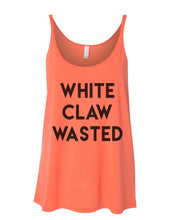Load image into Gallery viewer, White Claw Wasted Slouchy Tank - Wake Slay Repeat