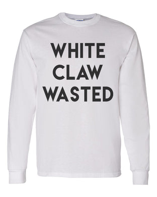 White Claw Wasted Unisex Long Sleeve T Shirt