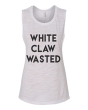 Load image into Gallery viewer, White Claw Wasted Fitted Scoop Muscle Tank - Wake Slay Repeat