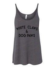 Load image into Gallery viewer, White Claws & Dog Paws Slouchy Tank - Wake Slay Repeat