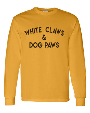 White Claws & Dog Paws Unisex Long Sleeve T Shirt