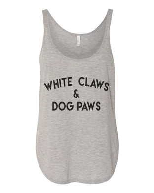 White Claws & Dog Paws Side Slit Tank Top - Wake Slay Repeat