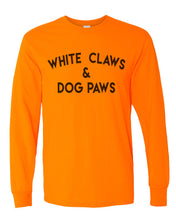 Load image into Gallery viewer, White Claws & Dog Paws Unisex Long Sleeve T Shirt - Wake Slay Repeat