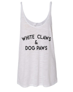 White Claws & Dog Paws Slouchy Tank - Wake Slay Repeat