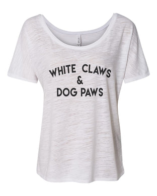 White Claws & Dog Paws Slouchy Tee - Wake Slay Repeat