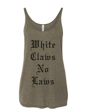 Load image into Gallery viewer, White Claws No Laws Slouchy Tank