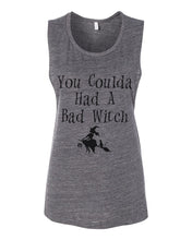 Load image into Gallery viewer, You Coulda Had A Bad Witch Fitted Muscle Tank - Wake Slay Repeat