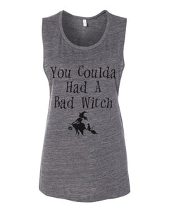 You Coulda Had A Bad Witch Fitted Muscle Tank - Wake Slay Repeat