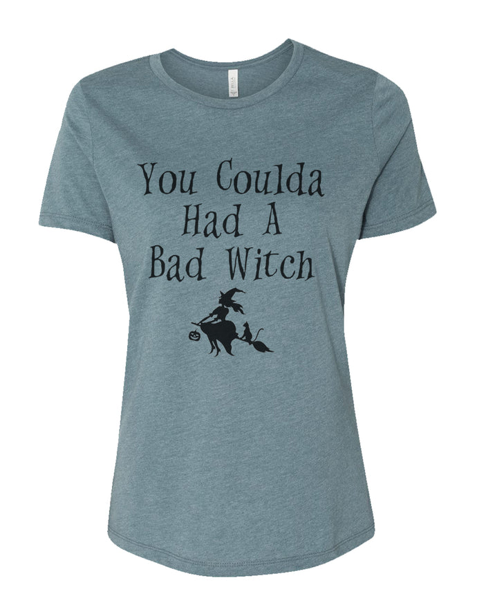 You Coulda Had A Bad Witch Fitted Women's T Shirt - Wake Slay Repeat
