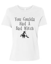 Load image into Gallery viewer, You Coulda Had A Bad Witch Fitted Women's T Shirt - Wake Slay Repeat