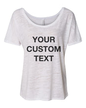 Load image into Gallery viewer, Your Custom Text Slouchy Tee - Wake Slay Repeat