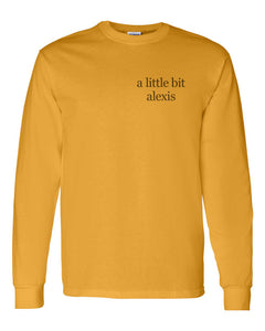 a little bit alexis Pocket Unisex Long Sleeve T Shirt - Wake Slay Repeat