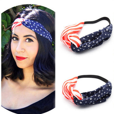 4th Of July American Flag Headband - Wake Slay Repeat