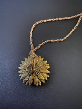 Load image into Gallery viewer, You Are My Sunshine Necklace Sunflower Pendant Open Locket - Wake Slay Repeat