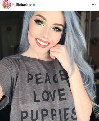 Peace Love Puppies Slouchy Tee