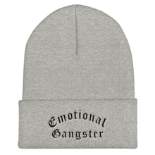 Load image into Gallery viewer, Emotional Gangster Cuffed Black Thread Beanie - Wake Slay Repeat