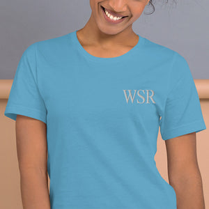 WSR Premium Embroidered Short-Sleeve Unisex T-Shirt - Wake Slay Repeat