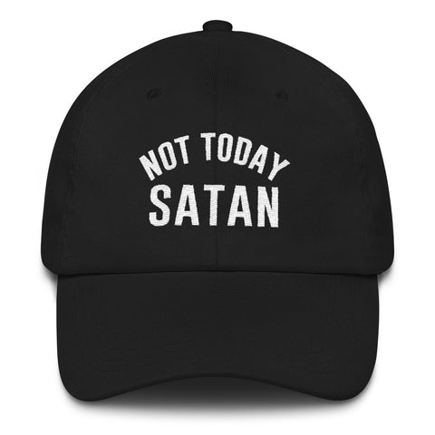 Not Today Satan Dad Hat