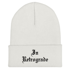 In Retrograde Cuffed Beanie - Wake Slay Repeat
