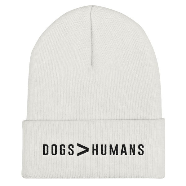 Dogs > Human Cuffed Black Thread Beanie