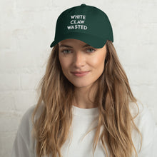 Load image into Gallery viewer, White Claw Wasted Dad Hat - Wake Slay Repeat