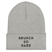 Load image into Gallery viewer, Brunch So Hard Cuffed Black Thread Beanie - Wake Slay Repeat