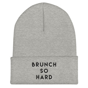 Brunch So Hard Cuffed Black Thread Beanie - Wake Slay Repeat