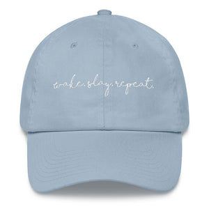 Wake. Slay. Repeat. Dad Hat - Wake Slay Repeat