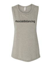 Load image into Gallery viewer, #socialdistancing Fitted Muscle Tank - Wake Slay Repeat