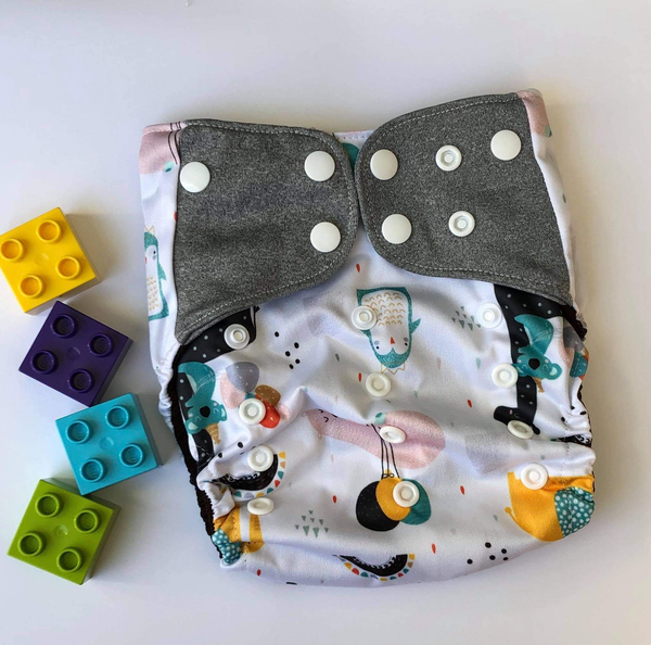 """Baby Animals"" Pocket Reusable Nappy"