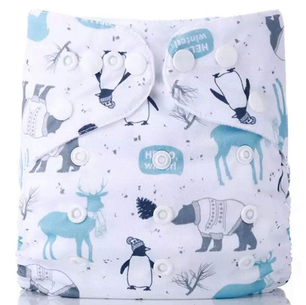 """Hello Winter"" Hybrid Reusable Nappy"