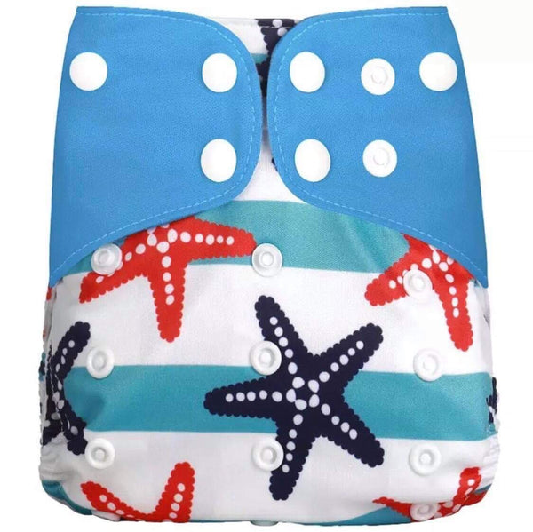 """Starfish"" Hybrid Reusable Nappy"