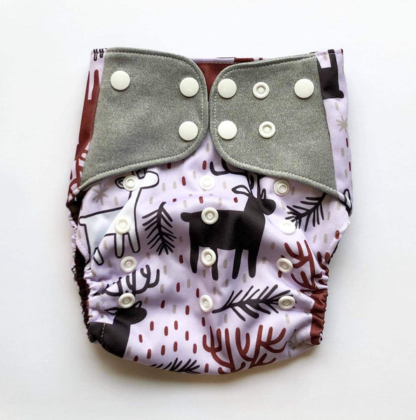"""Reindeer"" Pocket Reusable Nappy"