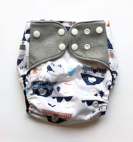 """On the Farm"" Pocket Reusable Nappy"