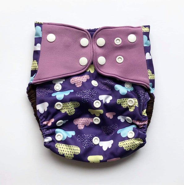 """Clouds"" Pocket Reusable Nappy"
