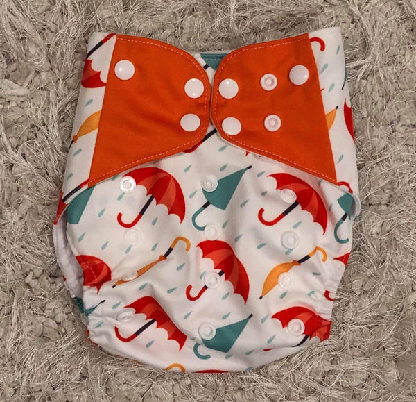 """Umbrellas"" Hybrid Reusable Nappy"