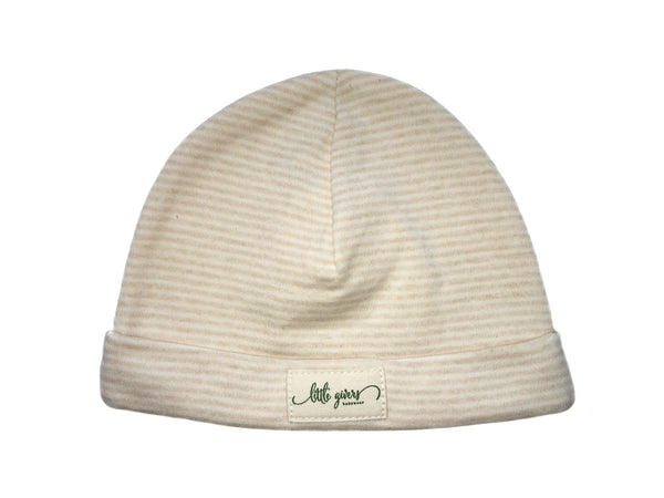 """The Natural"" 100% Organic Cotton Baby Hat"