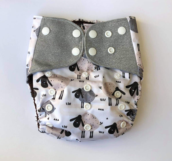 """Baa - Baa"" Pocket Reusable Nappy"