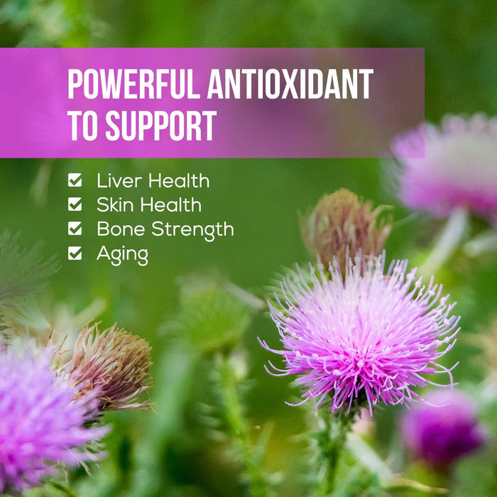 Milk Thistle Tablets, Highly Concentrated Extract 900mg - Liver Cleanse and Health Supplement - Made in USA - Silybum Marianum, 80% Standardized Silymarin Flavonoids