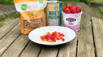 Propello Life Healthy Recipe Blog Greek Yogurt Parfait with Whey Protein