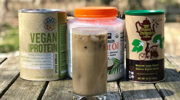 Propello Life Vegan Mocha Smoothie Recipe using our superfood plant-based protein blend