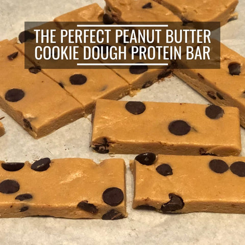 Propello Life Perfect peanut butter cookie dough protein bar made with a natural protein supplement