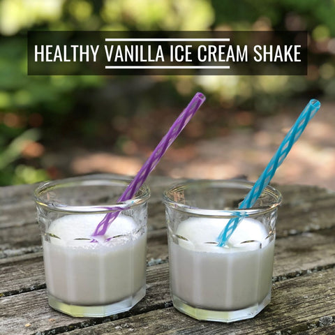 propello life healthy recipe vanilla ice cream shake made with grass fed whey protein