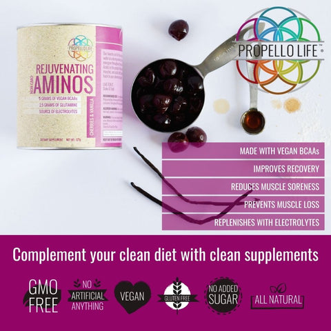 Propello Life Rejuvenating Aminos are the best vegan amino acids and natural supplements