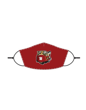 Wittenberg University tiger face mask red