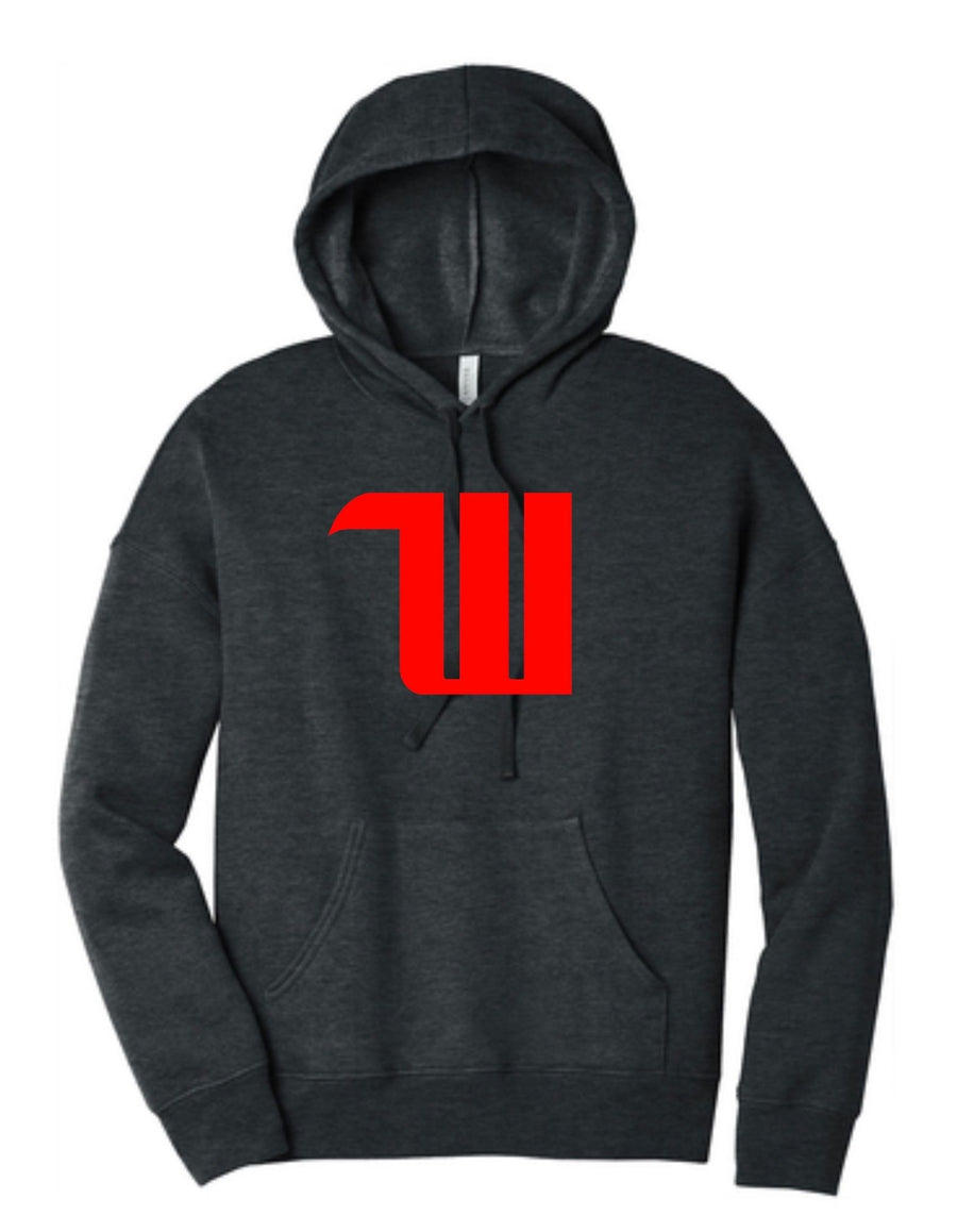 "Propello Life Wittenberg University  ""W"" - Adult Unisex Sponge Fleece Drop Shoulder Hoodie"
