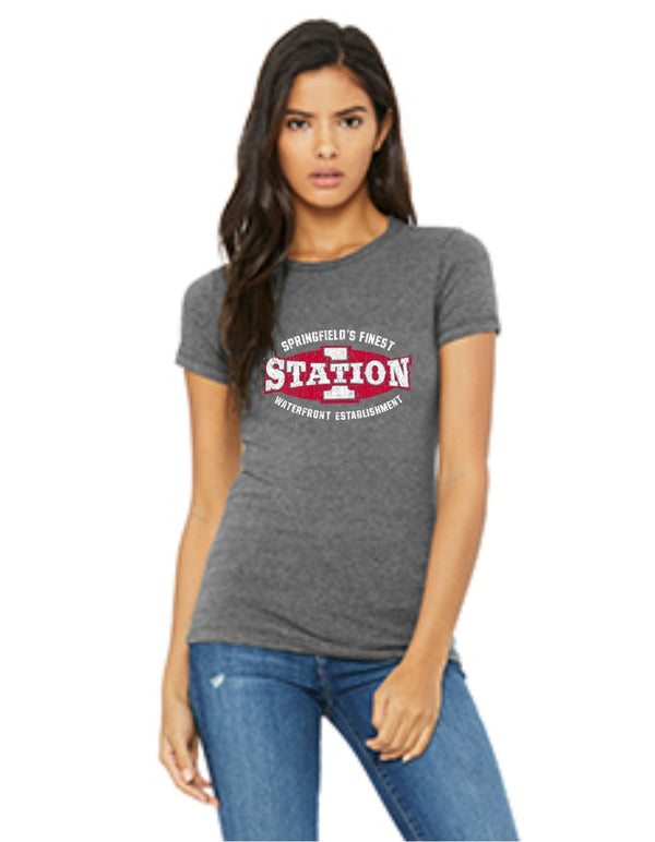 Propello Life and Wittenberg University _Station One Vintage_ Tee Old Logo grey