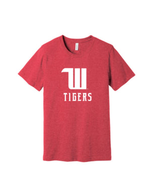 Wittenberg University super soft W Tigers red tee