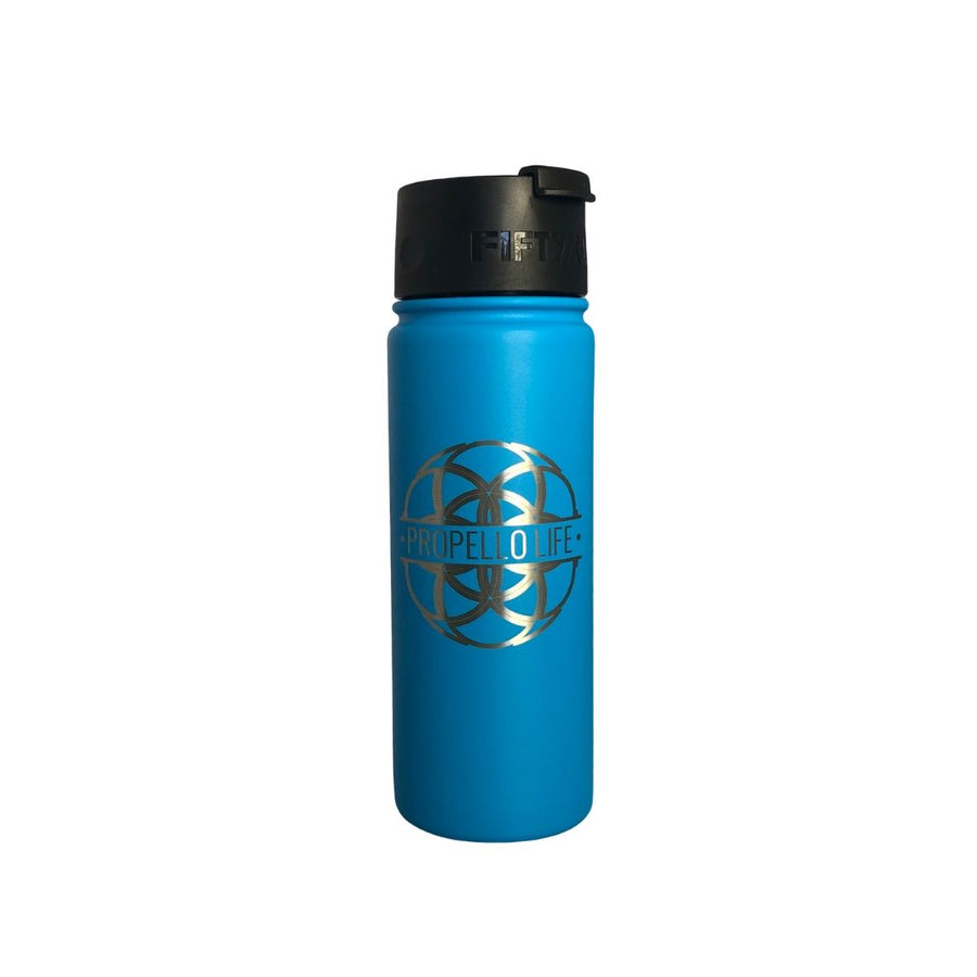 Propello Life 18oz Stainless Steel Water Bottles for our premium natural supplements blue