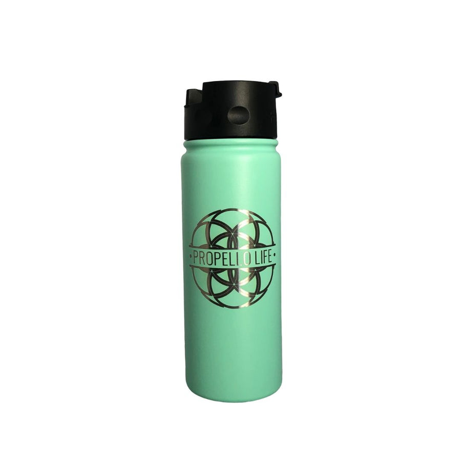 Propello Life 18oz Stainless Steel Water Bottles for our premium natural supplements cool mint